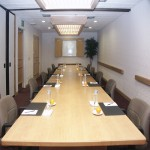 One of the meeting rooms in the Conference Center