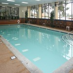 The pool at the Embassy Suites