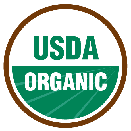 The official USDA Organic seal in color.